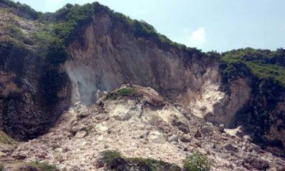 Tebing Gunung Kapur Puger Longsor, Satu Penambang Tertimbun