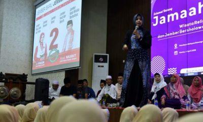 Bupati Jember Berselawat Bersama 17 Kelompok Muslimat