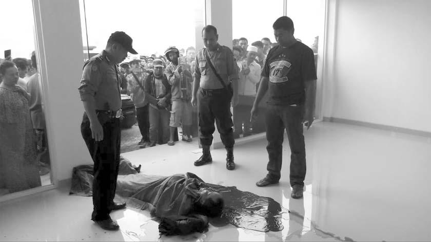 Korban sebelum dibawa ke rumah sakit. (tog)