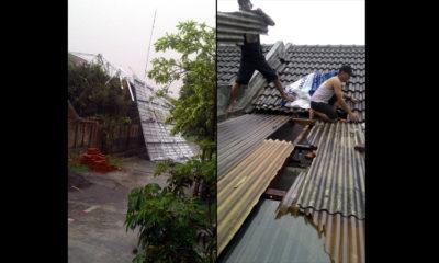 Hujan Lebat Angkat Atap Galvalum Perumahan