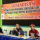 Andi Wasis (tengah) dalam sosialisasi pelaksanaan pemilihan serentak bupati dan wakil bupati. (Kj1)