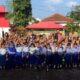 Berfoto bersama siswa dan siswi Lembengan 1 usai penyuluhan. (ist)