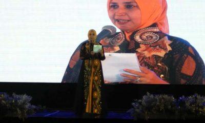 Bupati Jember dr Hj Faida MMr memberi sambutan. (bud)