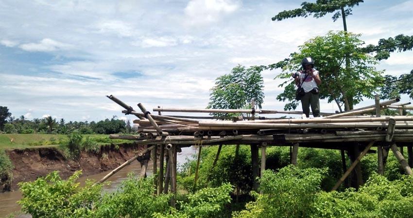 Salah satu jembatan sesek yang terputus. (bud)
