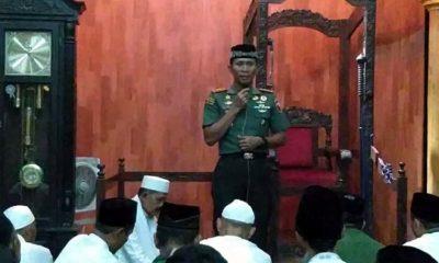 Dandim 0824 Gelar Safari Tahajud di Masjid Darussalam Semboro