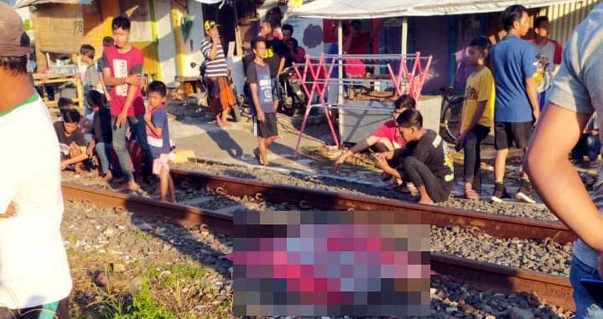 Melintasi rel kereta, tersambar kereta dan tewas seketika. (ist)