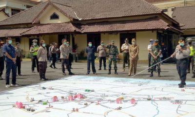 Antisipasi Dampak Covid-19, Polres Jember Giat Tactical Floor Game Sispamkota