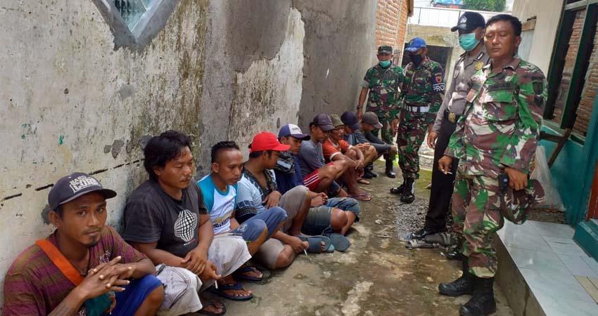 Sebanyak 9 orang pencuri besi di bangunan robohnya pertokoan Jompo. (ist)