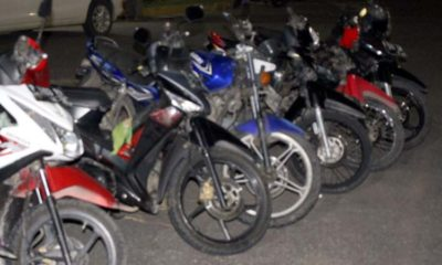 Barang bukti berupa puluhan sepeda motor pejudi diamankan di Polres Jember. (Ist)