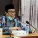 RAPAT EVALUASI : Wabup Jember Drs. KH. A. Muqit Arief saat rapat evaluasi penyaluran pupuk bersubsidi bersama Komisi Pengawasan Pupuk dan Pestisida (KPPP) Kabupaten Jember