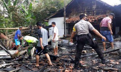 HANGUS: Kondisi rumah pasca kebakaran akibat korsleting listrik